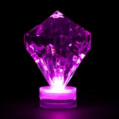 LED Diamond Light - Purple Submersible