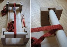 Card weaving loom http://windwraith.blogspot.com/2009/06/planning-portable-loom-for-tablet.html