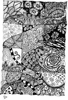 zentangle patterns | Zentangle Quilt Inspiration