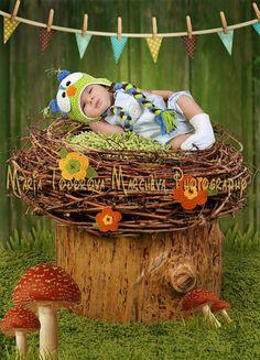 Crochet owl hat, Newborn owl hat, Earflap baby owl hat on Etsy, $22.64 AUD