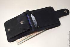 Кошелек мужской черный – купить или заказать в интернет-магазине на Ярмарке Мастеров   Мужской кошелек из натуральной кожи растительного…