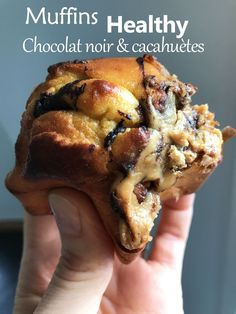 Muffins Healthy beurre de cacahuètes et chocolat For a diet without depriving yourself: Healthy muffins with peanut butter and chocolate Healthy Muffins, Healthy Smoothies, Smoothie Recipes, Chocolate Muffins, Healthy Chocolate, Chocolate Butter, Sweet Recipes, Cake Recipes, Dessert Recipes