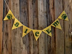 Sic 'Em Burlap Banner for Baylor University by LylaDee on Etsy