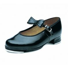Bloch Merry Jane Black Low Heel Tap Shoes Removable Matching Bow Cushioned Insole For Comfort Synthetic Leather Upper Polyester Cotton Lining Rubber Sole Heel & Toe Taps Fitted T Strap, Ankle Strap, Girls Tap Shoes, Merry Jane, Kids Dance Wear, Shops, Tween Girls, Shoe Dazzle, Low Heels
