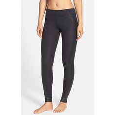 Solow Diamond Embossed Leggings ($102) ❤ liked on Polyvore featuring pants, leggings, black, black textured leggings, stretch pants, swimming pants, black leggings and swim pants