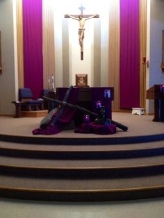 St. Mary's Lent display Pinckney, Mich 2013
