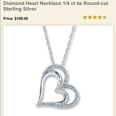 Silver & Diamond Heart Pendant Only ❤️ Purchased at Kay Jewelers. This listing is for the pendant Only. It's a beautiful pendant that sits in my jewelry box & I haven't used it in a long time. ❤️ PRICE IS FIRM. Kay Jewelers Jewelry Necklaces