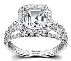 My engagement ring- only mine has a round center stone! Love it!