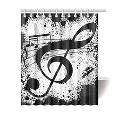 Achetez GCKG Black and White Shower Curtain, Musical Notes Polyester Fabric Shower Curtain Bathroom Sets 60x72 Inches à Walmart Canada. Magasinez plus de Rideaux de douche disponible en ligne à Walmart.ca.