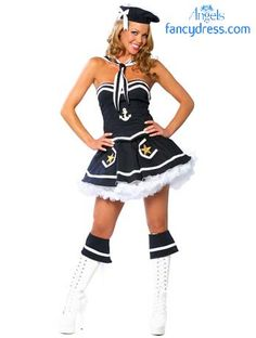 746e7a7739 Flirty sailor fancy dress costume is great for a hen night. http