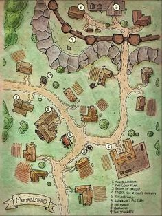 Colour version of my village map from the other day. Still trying to perfect dig. : Colour version of my village map from the other day. Still trying to perfect dig. Fantasy Map Making, Fantasy City Map, Fantasy Village, Fantasy Town, Fantasy World Map, Fantasy Rpg, Medieval Fantasy, Dungeons And Dragons Homebrew, D&d Dungeons And Dragons