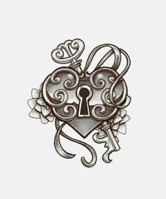 deviantART: More Like heart locket tattoo design by *charlotte-lucyy