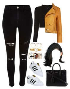 """12 November, 2016"" by jamilah-rochon ❤ liked on Polyvore featuring Linda Farrow, River Island, adidas, Yves Saint Laurent and Casetify"