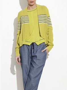Zaria Multi-Stripe Cardigan, Theonne Spring 2014