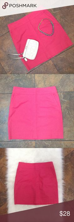 "☀️Talbots Pink Pencil Skirt Super vibrant Barbie pink color perfect for that special vacation or cruise! These also have pockets in the front and a zipper in the back.  In good condition with one very small spot on skirt (see pic). Waist: 32"", Hip: 38.5"", Length: 18.5"". 97% Cotton 3% Cotton. Please ask any questions before purchasing. Happy Poshing! Talbots Skirts Pencil"