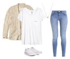 """""""Fuzzy-Bulky Texture Outfit"""" by astrupp on Polyvore featuring Hollister Co., Converse and Tiffany & Co."""