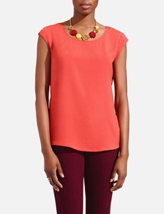Layering Shell from The Limited $36.90 in Size Small, Color: Pumpkin Spice