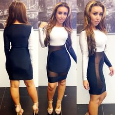 Black & White Hot Sexy Girl Mini Bandage Dress 2014 Summer Lace Patchwork Women Mesh Party Dress Night Club Wear Bodycon Outfit $12.99