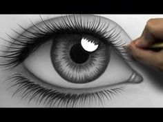 How to Draw a Realistic Eye (Time Lapse) - YouTube