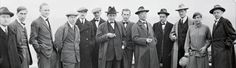 The Bauhaus masters on the roof of the Bauhaus building in Dessau. From the left: Josef Albers, Hinn.