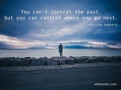 You can't control the #past, but you can control where you go next. http://wildtussah.com #quote