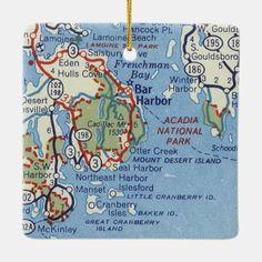Saco Maine, Bar Harbor Me, Live Maine Lobster, Boothbay Harbor Maine, Camden Maine, Mountain Images, Mount Desert Island, East Coast, Christmas Ornament