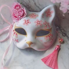Japanese Fox Hand-painted Cosplay Mask A cool cosplay Japanese style anime fox m. - Japanese Fox Hand-painted Cosplay Mask A cool cosplay Japanese style anime fox mask, painted with h - Cosplay Outfits, Anime Outfits, Kitsune Maske, Japanese Fox Mask, Cat Mask, Cool Masks, Masks Art, Kawaii Clothes, Character Outfits