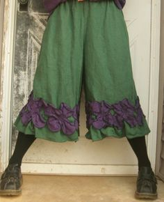 Cropped Petal Bloomers by sarahclemensclothing on Etsy