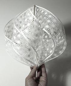 Accumulation Paper Cut Sculptures by Christine Kim #paperart #papercut #paper #sculpture