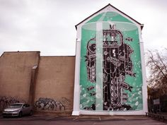 Amazing street art. Mural In Neuss, Germany