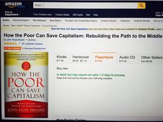 """#1 New Release in Business Development on Amazon.com: """"How The Poor Can Save Capitalism"""" Textbook Rental, Social Science, One In A Million, New Books, Childrens Books, Canning, Amazon, News, Business"""