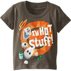 Frozen Little Boys Olaf Hot Stuff Charcoal 5T >>> Want additional info? Click on the image.