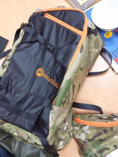 EXTREME III Backpack / Snowboard, Ski Touring, Ski Alpinism / Cammo - Black - Orange #pajaksport