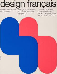Jean Widmer, poster, Design français, 22 octobre au 20 décembre 1971, 1971