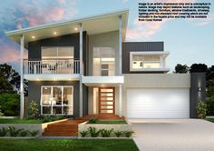 Bronte Photograph may depict fixtures, finishes and features that are not supplied by Coral Homes SA. Small Beach Houses, Small Houses, Storey Homes, Two Story Homes, New Home Designs, Outdoor Settings, Open Plan Living, Home Builders, Window Treatments