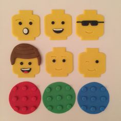 12 Lego Boy Cupake Toppers-Fondant by bakerslovebakery on Etsy Girl Cupcakes, Fondant Cupcakes, Cupcake Cakes, Fondant Toppers, Cupcake Toppers, Lego Birthday, Birthday Cake, Lego Girls, Girls With Black Hair