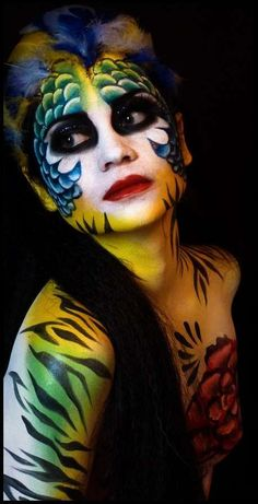 Bodypainting, body painting, manon cormier - Body paint is a unique way for both artists, models and photographers to let their creativity shine. Body painting is used worldwide, mostly to pr. Body Makeup, Makeup Art, Body Painting Artists, Makeup Illustration, Fantasy Makeup, Eye Art, Creative Makeup, Face And Body, Body Art Tattoos