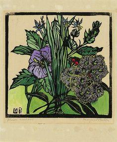 Margaret Preston  Native Hibiscus and Gum Flowers   1936