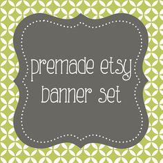 Premade Etsy Shop Banner Avatar Set  Premade Etsy by cosdesign, $9.00