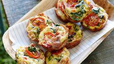 Prosciutto-wrapped frittata muffins paleo recipe
