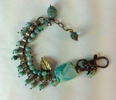 Art Nouveau Victorian Book Chain Bracelet by BeadazzledBySharon, $79.00