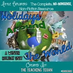 This unit exposes our youngest children to Hanukkah, Kwanzaa, and Christmas in Mexico.   Stunning, real-life images bring this winter holiday unit to life!  Students who are struggling or are learning English will benefit from the use of real-life images as they construct meaning and explore the following winter holidays:  Hanukkah, Kwanzaa, and Christmas in Mexico.Teaching students to read and comprehend non-fiction texts is no easy feat.