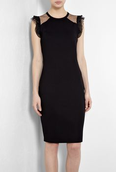 Tulle Jersey Pencil Dress by Red Valentino