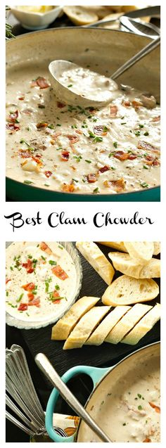 This delicious, creamy Best Clam Chowder is the perfect soup to serve for a lighter holiday meal.