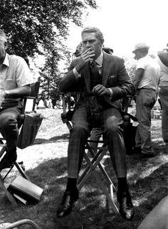 voxsart:  On Set 1968. Steve McQueen as Mr. Crown.