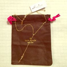 "kate spade♠️New York 'say yes' Y- necklace brand new with tags kate spade♠️New York 'say yes' beautiful y-necklace♠️ A crystal-sparked pendant spells out ""smile"" in this cute, on-trend Y-necklace. 16.5"" length; 3""extender; 1/8""W x 4""L pendant. Lobster clasp closure with 12k-gold plate/glass. Super feminine must have! kate spade Jewelry Necklaces"