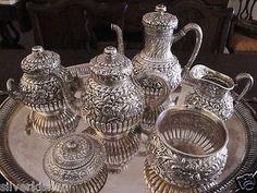 Finest Tiffany Co 6 PC Sterling Silver Tea Coffee Set Persian C 1870s NM | eBay