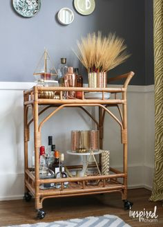 5 Steps to styling the perfect fall bar cart! From @homegoods via @inspiredbycharm