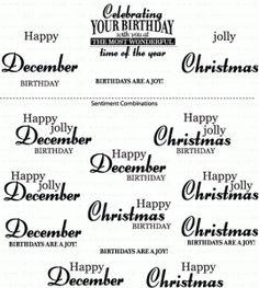 Birthday Classics: December Mini Stamp Set