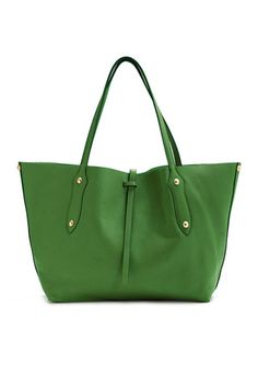 """The """"Small Isabella"""" Item Tote Kelly Green – Annabel Ingall"""